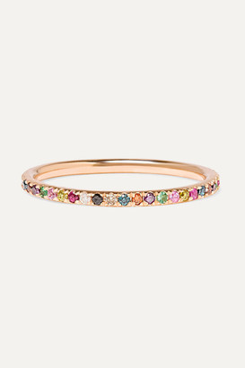 Ileana Makri Thread 18-karat Rose Gold Multi-stone Ring - 52