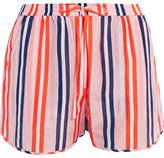 Diane von Furstenberg Striped Cotton And Silk-blend Shorts - Pastel orange