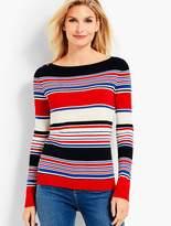 Talbots Stripe Bateau-Neck Sweater