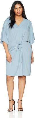 Junarose Women's Plus Size Malou Short Sleeve Above Knee Dresss