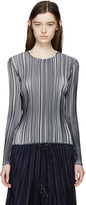 Emilio Pucci Black & White Pleated Top
