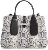 Longchamp Medium Roseau Python Embossed Lambskin Leather Tote