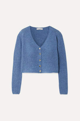 The Row Abigael Cropped Cashmere Cardigan - Blue