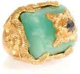 Jade Jagger Diamond & chrysoprase ring