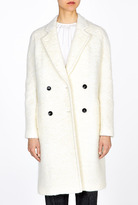 Paul Smith Black Double Breasted White Bouclé Coat