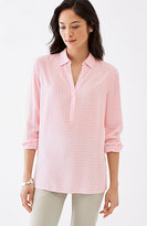 J. Jill Mixed-Gingham Rayon Top