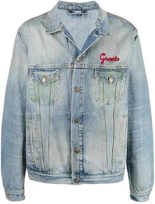 Gucci 'mon Petit Chat' Denim Jacket