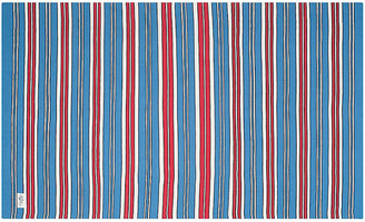 Ralph Lauren Home Racing Stripe Point Rug periwinkle/red/white