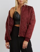 Charlotte Russe Quilted Bomber Jacket