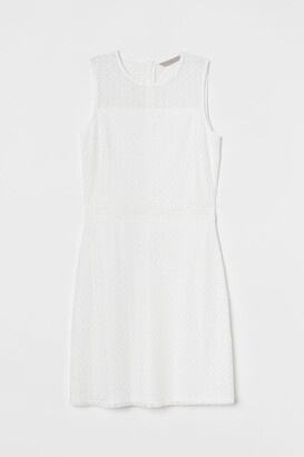 H&M Sleeveless Lace Dress - White