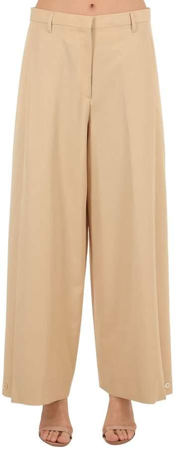 Salvatore Ferragamo Cropped Wool Gabardine Pants