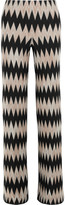Missoni Wool-blend Crochet-knit Wide-leg Pants - Black