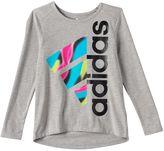 adidas Toddler Girl Tilted Graphic High-Low Hem Tee