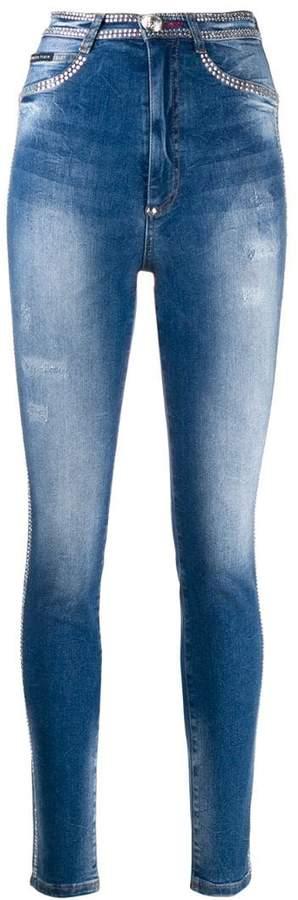 0f18ca23 Crystal Embellished Jeans - ShopStyle
