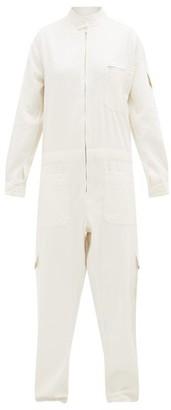 Marrakshi Life - Patch-pocket Cotton-blend Boiler Suit - Ivory