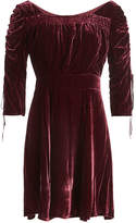 The Kooples Velvet Dress with Silk