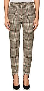 Y/Project Women's Plaid Wool Skinny Trousers - Beige
