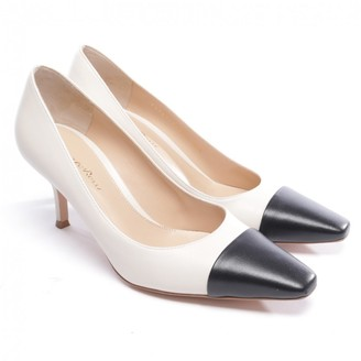 Gianvito Rossi White Leather Heels