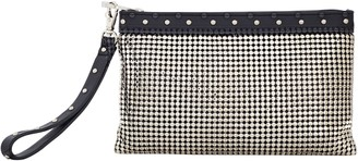 Whiting & Davis Studded Wristlet