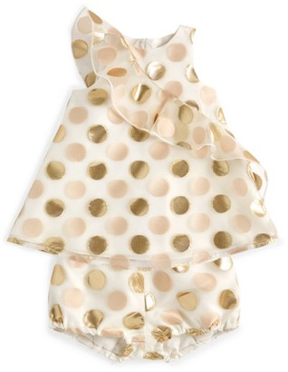 Hucklebones London Polka-Dot Trapeze Dress