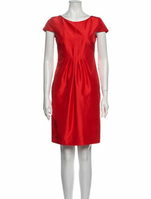 Oscar de la Renta 2009 Knee-Length Dress Red