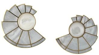 Monica Sordo 24kt gold plated brass Nautilus Earfan earrings