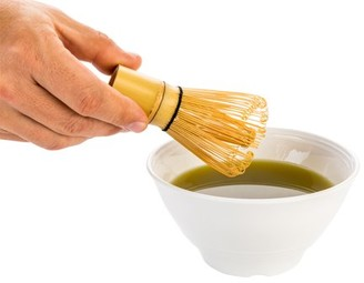 """clear Restaurantware Dojo Natural Bamboo Matcha Whisk Chasen Plastic Case - 2 1/4"""" x 2 1/4"""" x 4"""" - 1 count box"""
