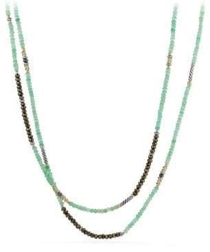 David Yurman Tweejoux® Bead Necklace In Chrysoprase, Pyrite, And