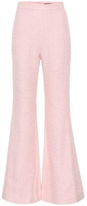 Balmain Cotton-blend high-waisted trousers