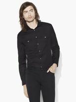John Varvatos Slim Fit Military Shirt