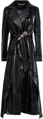 Roland Mouret Marvin Cracked Patent-leather Coat
