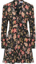 RED Valentino Floral-print Silk-georgette Mini Dress - Pink