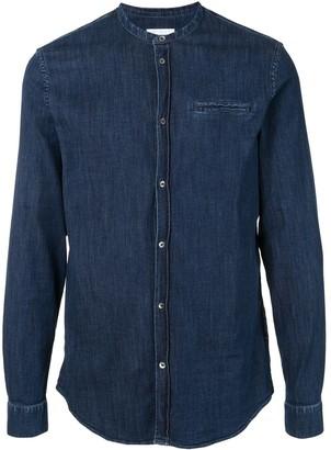 Dondup Collarless Denim Shirt
