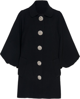 Andrew Gn Puffed Sleeve Crepe Jacket