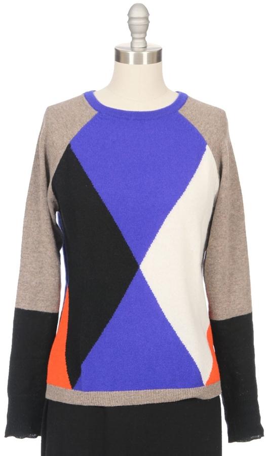 Autumn Cashmere Geo Graphic Pullover Sweater