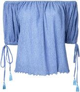 G.V.G.V. Yoryu chiffon off shoulder blouse - women - Tencel/Polyester/Polyurethane - 34