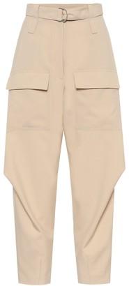 Stella McCartney Adaline wool carrot-leg cargo pants
