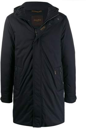 Moorer mid-length hooded jacket