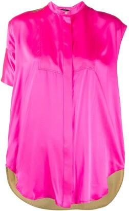 Jejia Two-Tone Button Shirt