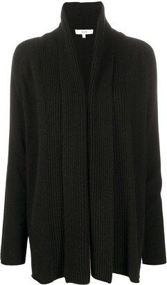 Vince Ribbed Panel Cardigan