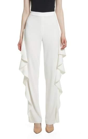 Alice + Olivia Estell Ruffle Side Pants
