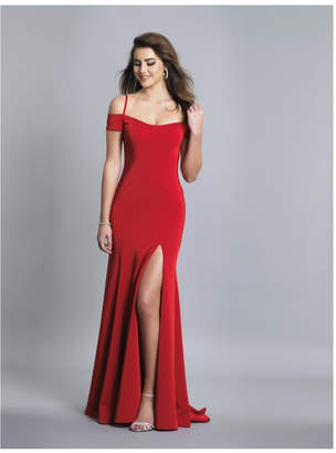 Dave and Johnny Cold Shoulder Gown
