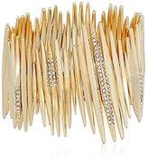 ABS by Allen Schwartz Going Coastal Stretch Bracelet, Gold/Crystal
