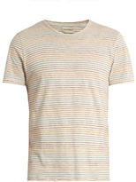 Oliver Spencer Conduit pinstriped cotton-jersey T-shirt