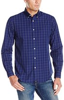 Dockers Long-Sleeve Two-Tone Grid Woven Shirt