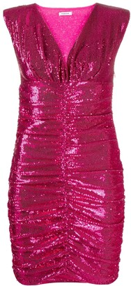 P.A.R.O.S.H. Sequinned Ruched Mini Dress