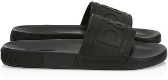 Dolce & Gabbana Saint Barth Rubber Slide Sandals