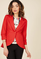 Esley Fine and Sandy Blazer in Red