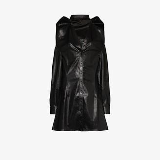 Y/Project Faux snakeskin folded shirt