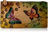 Anuschka Anna By Anuschka, Handpainted Leather Organizer Wallet,Animal Butterfly Wallet